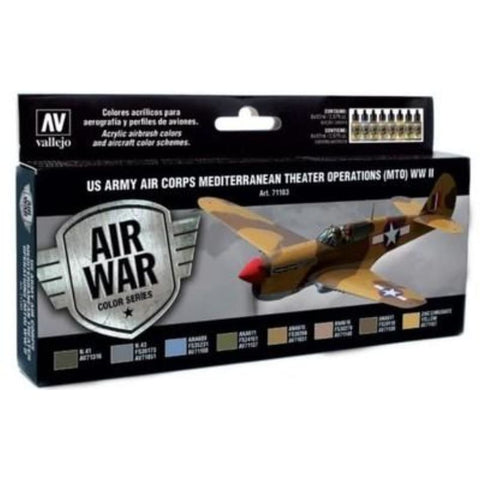 Vallejo Model Air 71183 US Army Air Corps MTO WW2 Acrylic paint set - BlackMike Models
