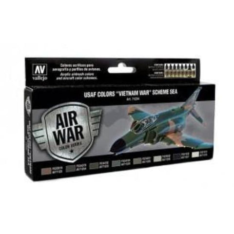 Vallejo Model Air 71204 USAF South East Asia Acrylic paint set - BlackMike Models