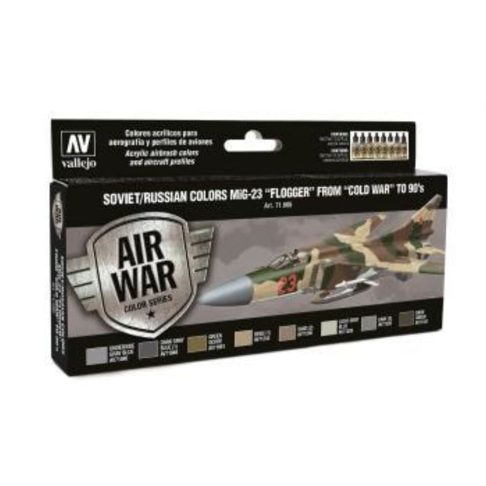 Vallejo Model Air 71606 Soviet/Russian Colours Mig-23 Flogger from 70s to 90s Acrylic paint set - Paint Sets