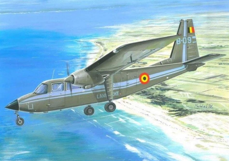 Valom 1/48 48011 Britten Norman BN-2A Islander Belgian Army Air Component - BlackMike Models