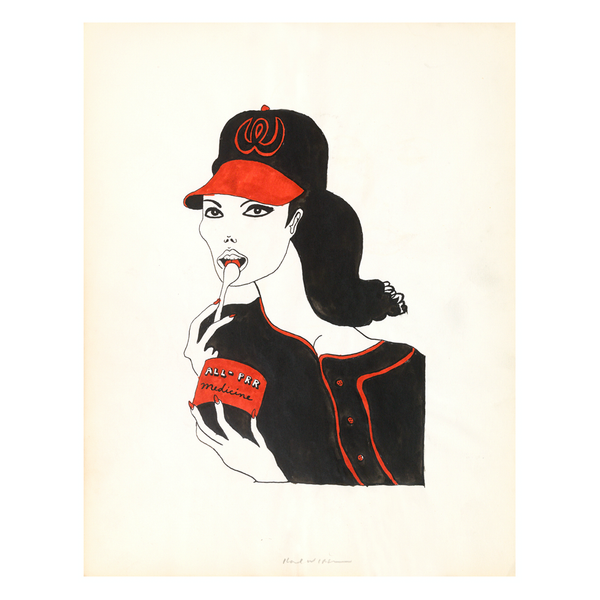 Untitled (study for Baseball Girl, 1964)