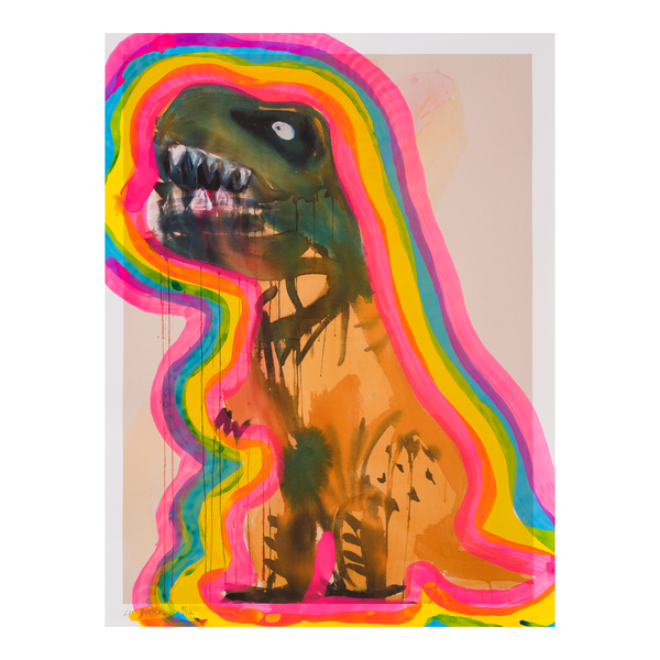 Blue Faced T-Rex with Auras 09