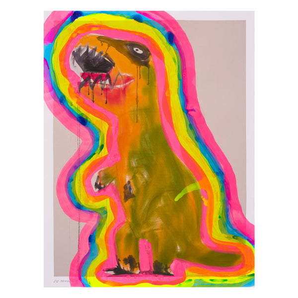 Ochre and Green T-Rex with Auras 03