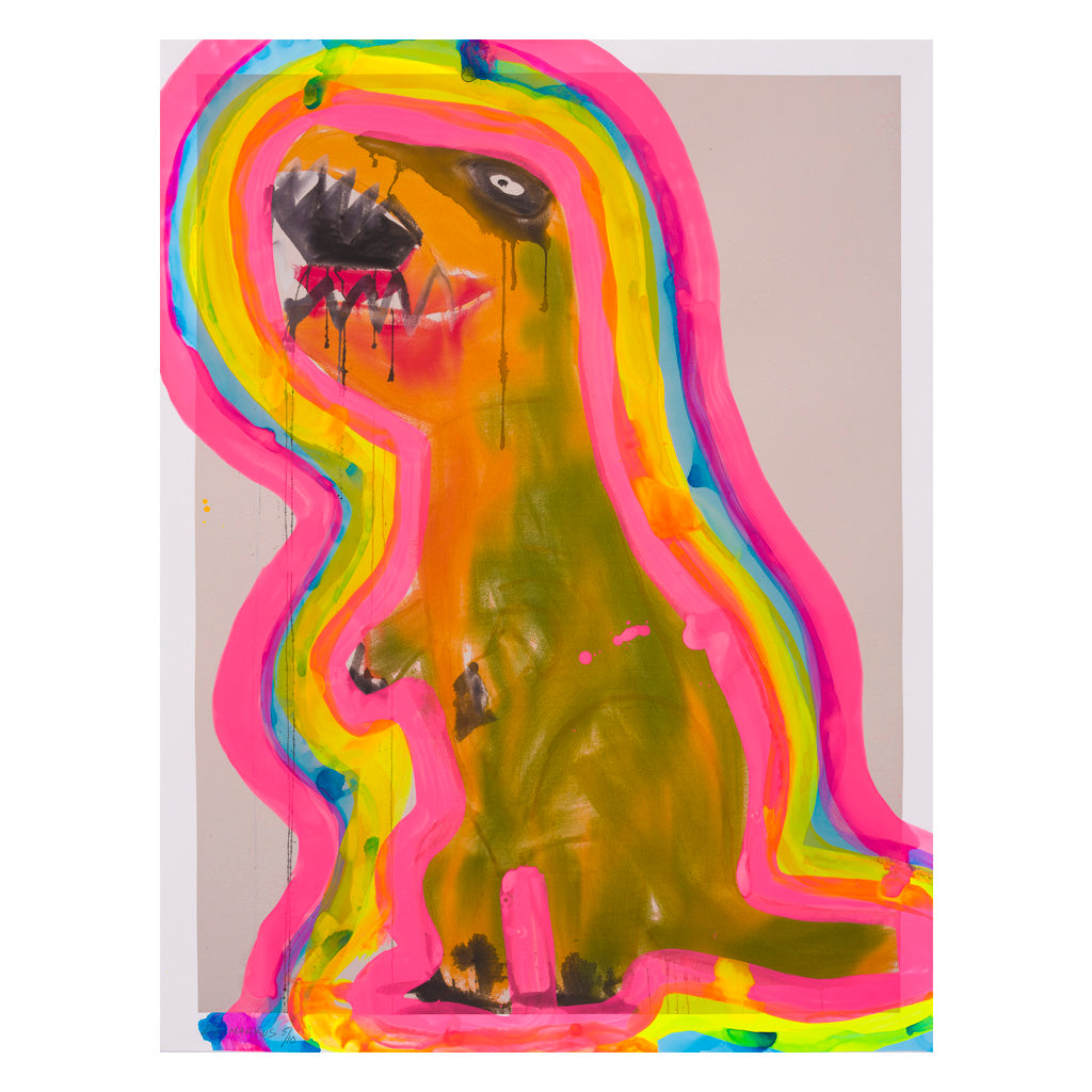 Ochre and Green T-Rex with Auras 05