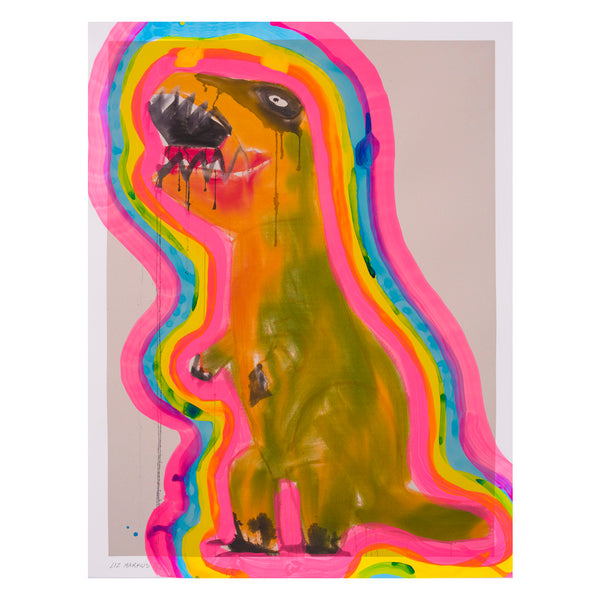 Ochre and Green T-Rex with Auras 07