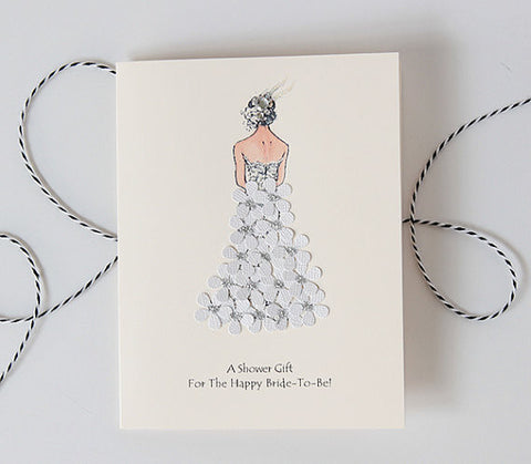 A shower gift for the bride to be - shower card
