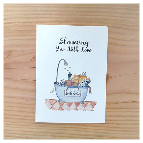 Showering With Love Bridal Shower Card