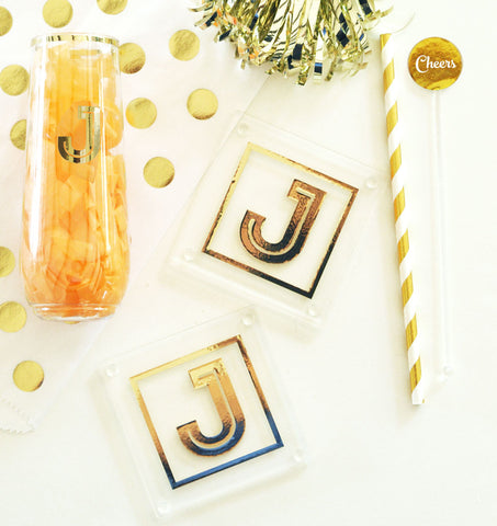 Monogram Coasters for Bridal Party