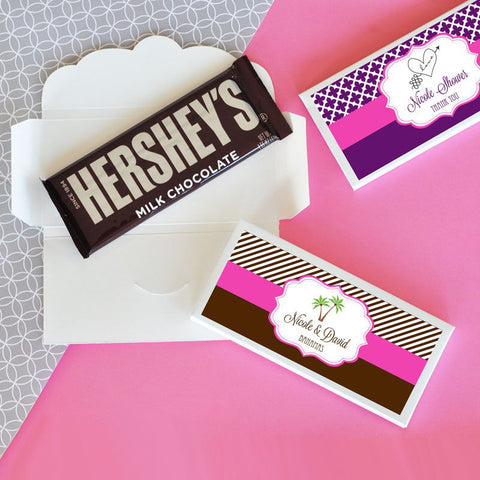 Personalized Candy Bar Wrappers for Bridal Shower