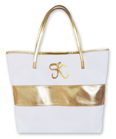 Monogram Gold Stripe Bag