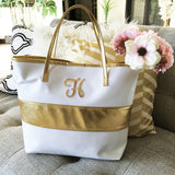 Monogram Bag with Gold accent