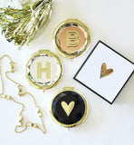 Monogrammed Compact Mirrors for Bridesmaids