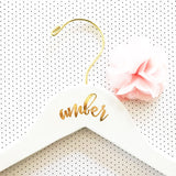 Personalized Bridesmaid Hanger with Gold Hook