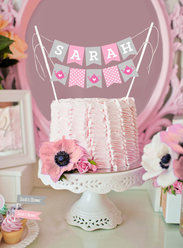 Personalized Bridal Shower Cake Bunting