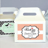 Personalized Mini Gable Boxes for Bridal Shower