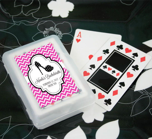 Personalized Playing Cards for Bridal Shower Favors