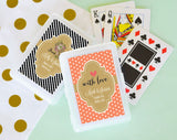 Modern Personalized Playing Cards