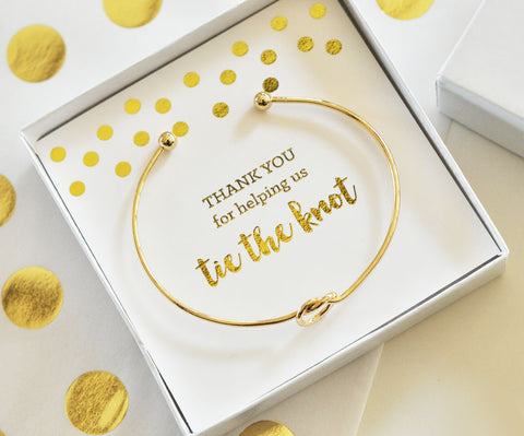 tie the knot bracelet in gold