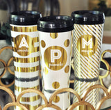 Personalized Travel Coffee Mugs with Black Twist Off Lid