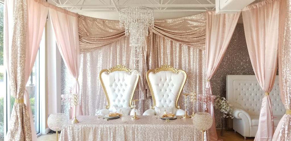 Check out this stunning sequin blush mockup table!