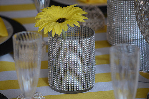 4 ways to use our rhinestone mesh rolls!
