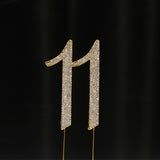 Gold Numbers Rhinestone Cake Toppers - Wholesale Wedding Chair Covers l Wedding & Party Supplies