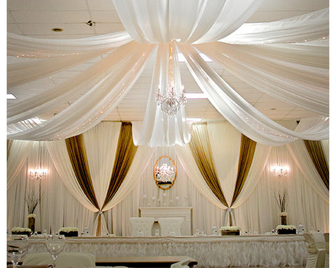 Ceiling draping - Wholesale Wedding Chair Covers l Wedding & Party Supplies