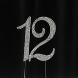Silver Numbers Rhinestone Cake Toppers - Wholesale Wedding Chair Covers l Wedding & Party Supplies