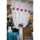 Chiffon fabric roll White (40 yards) - Wholesale Wedding Chair Covers l Wedding & Party Supplies