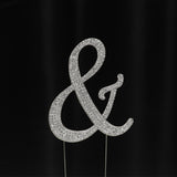 Silver Rhinestone Cake Toppers - Wholesale Wedding Chair Covers l Wedding & Party Supplies