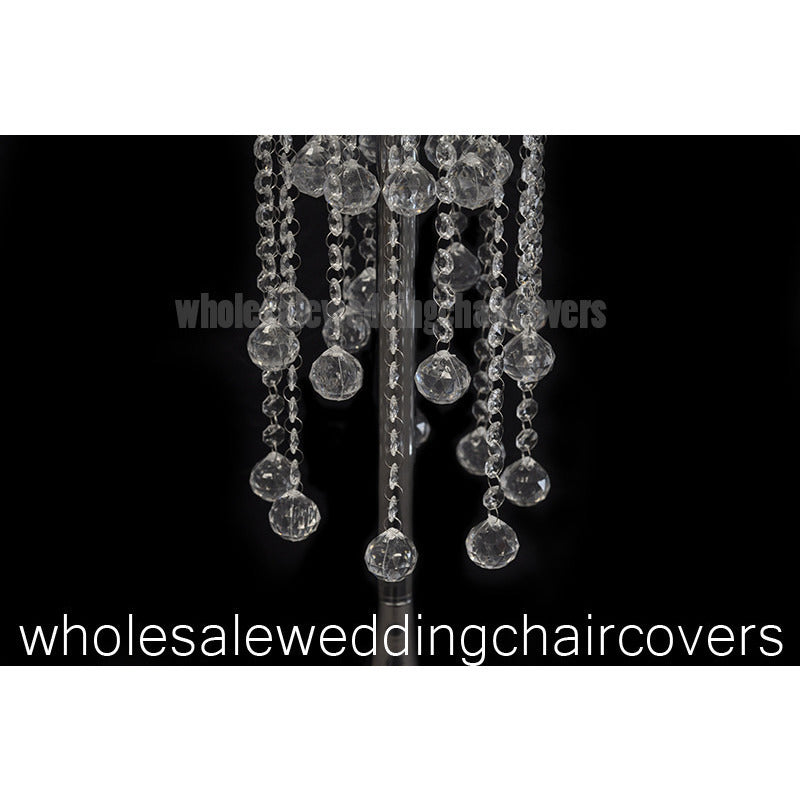 Hanging crystal centerpiece with fluted base - Wholesale Wedding Chair Covers l Wedding & Party Supplies