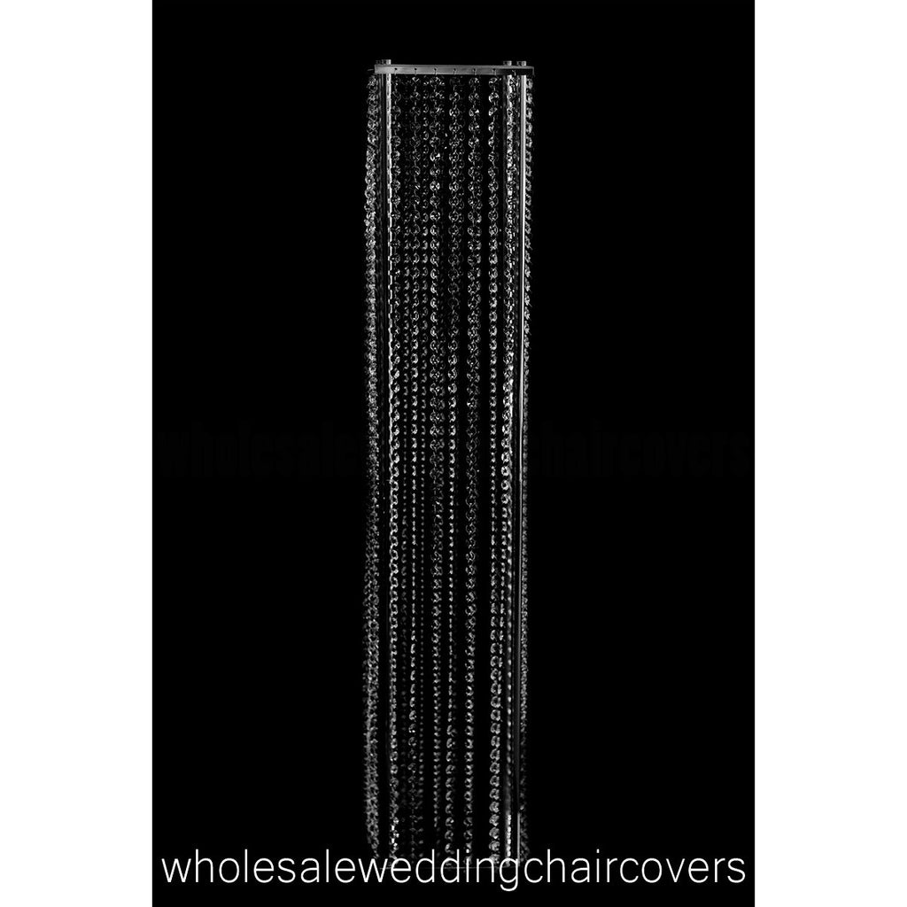 Elegant Acrylic Crystal Chandelier Aisle Tower - Wholesale Wedding Chair Covers l Wedding & Party Supplies
