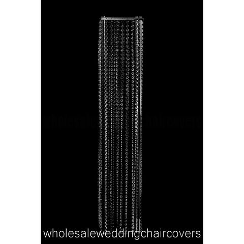 Elegant Acrylic Crystal Chandelier Aisle Tower