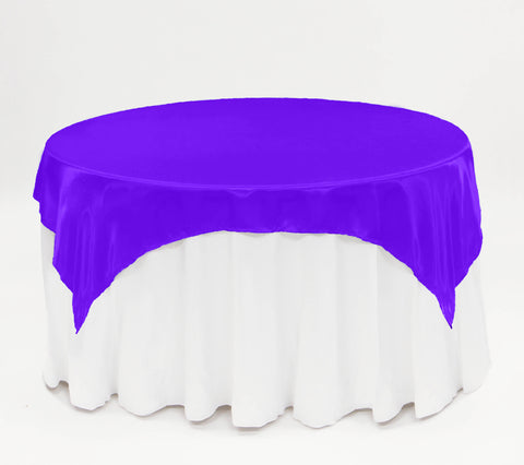 "90"" x 90"" Square - Polyester Table Overlay - Wholesale Wedding Chair Covers l Wedding & Party Supplies"