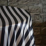 "90"" x 132"" Rectangular Stripe Satin Tablecloth - Wholesale Wedding Chair Covers l Wedding & Party Supplies"