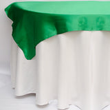 "90"" x 90"" Square - Satin Table Overlay - Wholesale Wedding Chair Covers l Wedding & Party Supplies"