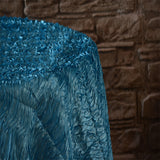 "90"" x 132"" Rectangular Wavy Tablecloth - Wholesale Wedding Chair Covers l Wedding & Party Supplies"