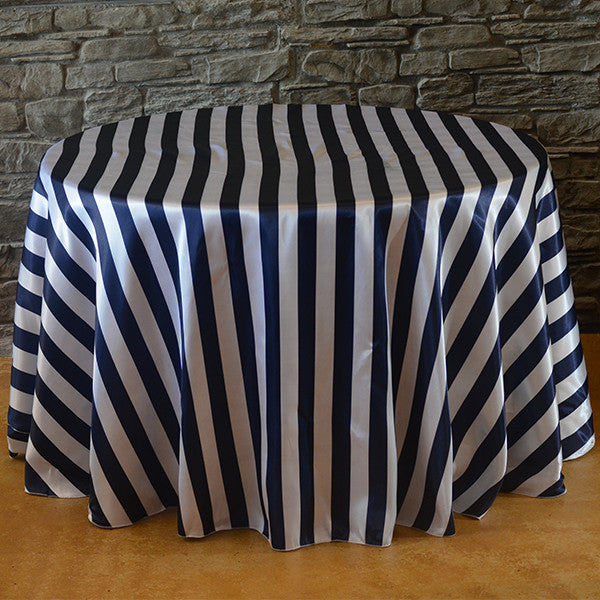 132 round stripe satin tablecloth wedding linens striped 132 round stripe satin tablecloth solutioingenieria Image collections