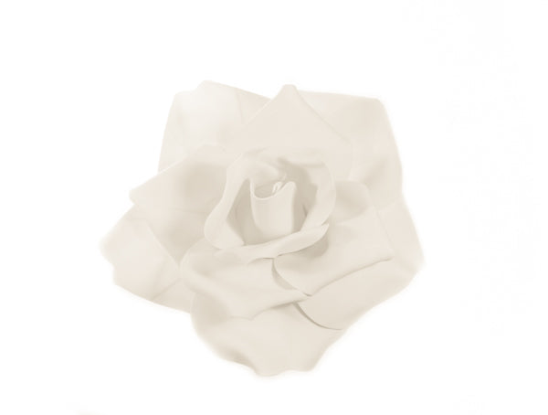 Ivory Foam Flower Wall Decor - Wholesale Wedding Chair Covers l Wedding & Party Supplies