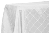 "90"" X 156"" Rectangular Pintuck - Wholesale Wedding Chair Covers l Wedding & Party Supplies"