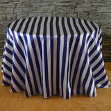 "108"" Round Stripe Tablecloth - Wholesale Wedding Chair Covers l Wedding & Party Supplies"