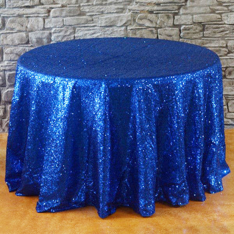 "108"" Round Sequins Tablecloth - Wholesale Wedding Chair Covers l Wedding & Party Supplies"