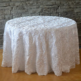 "120"" Round Wavy Tablecloth - Wholesale Wedding Chair Covers l Wedding & Party Supplies"