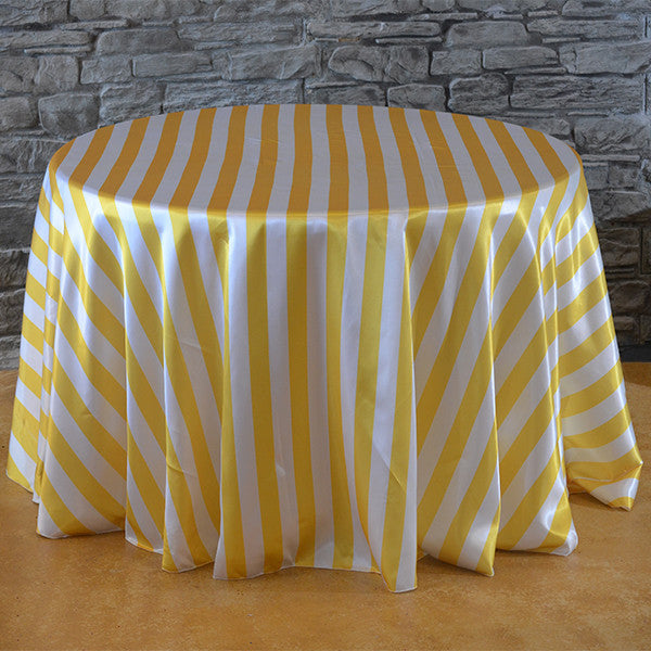132 Quot Round Stripe Satin Tablecloth Wedding Linens Striped Tablecloths Wholesale Wedding