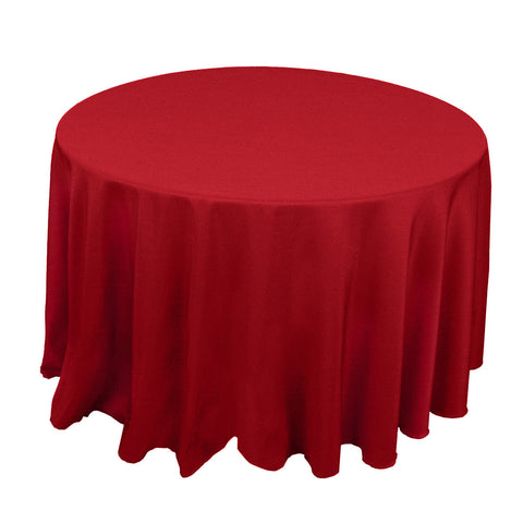 "90"" Round Polyester Tablecloth - Wholesale Wedding Chair Covers l Wedding & Party Supplies"