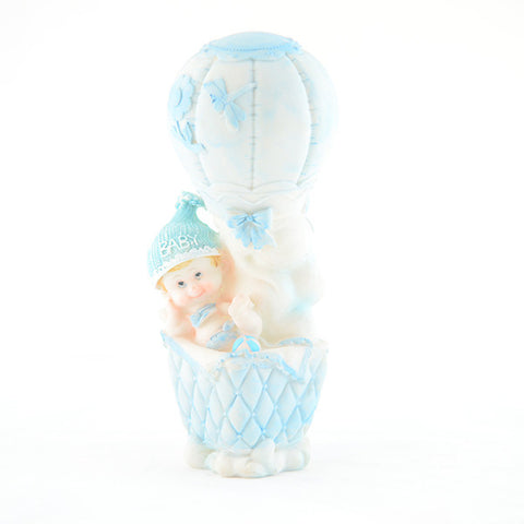 Baby Boy In A Balloon Figurine Wholesale Wedding Chair Covers