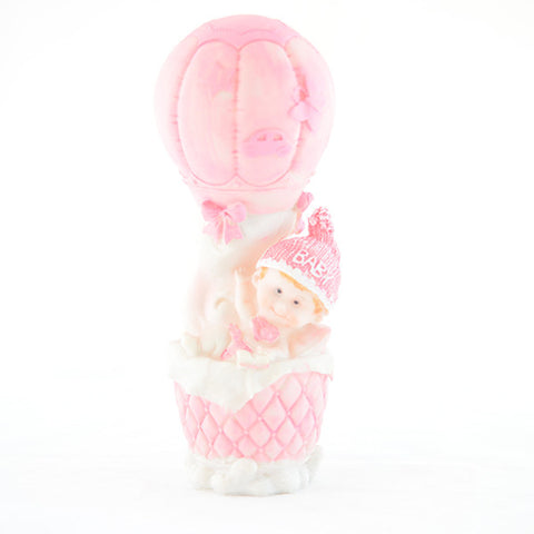 Baby girl in a balloon figurine - Wholesale Wedding Chair Covers l Wedding & Party Supplies