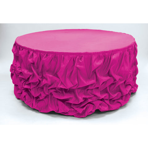 21 ft Lamour Satin Pick Up Skirt - Wholesale Wedding Chair Covers l Wedding & Party Supplies