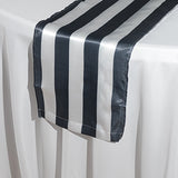 Stripe satin table runners - Wholesale Wedding Chair Covers l Wedding & Party Supplies
