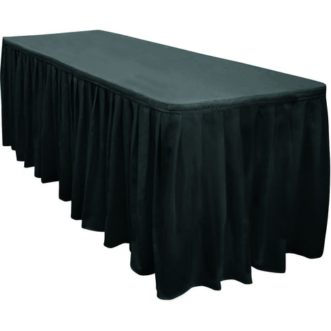 17 ft Polyester Box Pleat Skirt - Wholesale Wedding Chair Covers l Wedding & Party Supplies